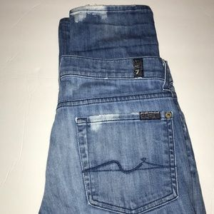 7 for all mankind distressed denim Roxanne size28